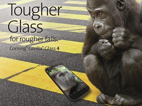 無懼藍寶石,康寧推出第四代大猩猩玻璃