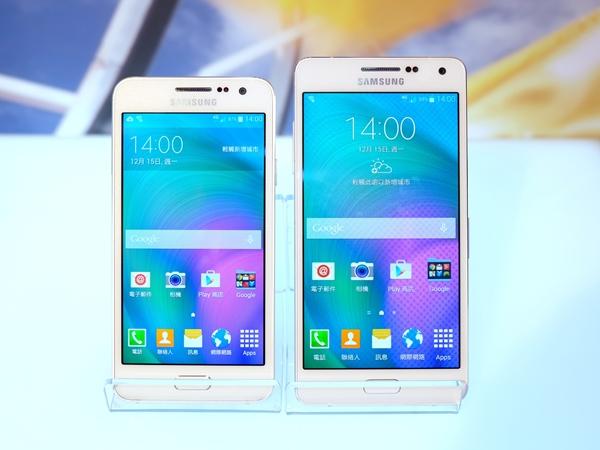 全金屬一體成型手機 Samsung Galaxy A3、A5 登台,12 月中下旬開賣