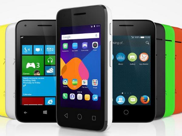 阿爾卡特的OneTouch Pixi 3手機,提供三種手機系統任你選擇
