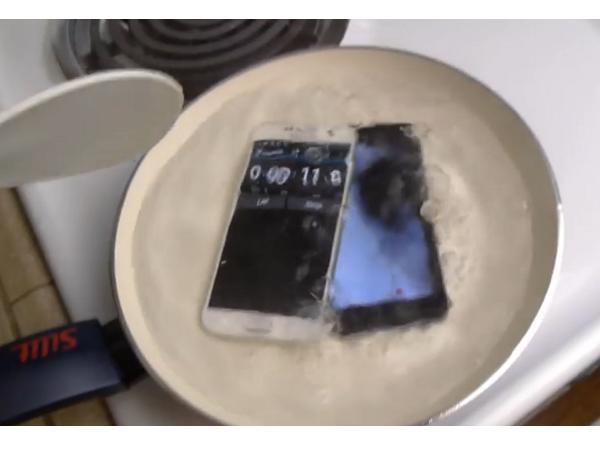 滾水煮手機!在燒開的熱水中iPhone堅持了10秒,那S6能煮多久呢?