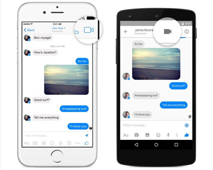 Facebook Messenger 不只可以語音通話,現在更可以視訊通話