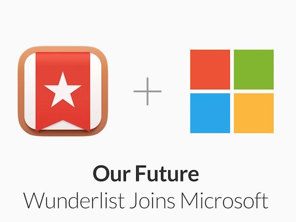 微軟買下Wunderlist奇妙清單,跨平台效率辦公App王國逐漸成形