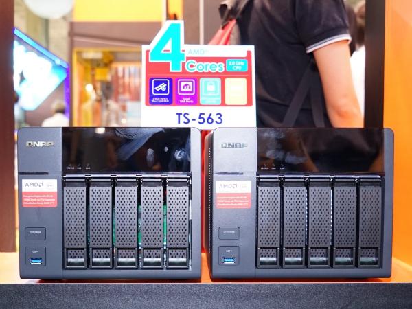 2015 Computex:QNAP 發表企業級 NAS「TS-563」搭載 AMD 四核心處理器、支援 10GbE 高速傳輸