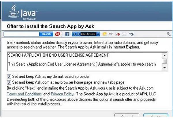 微軟也看不下去了!把安裝Java工具「附贈」的Ask.com工具列歸為惡意軟體