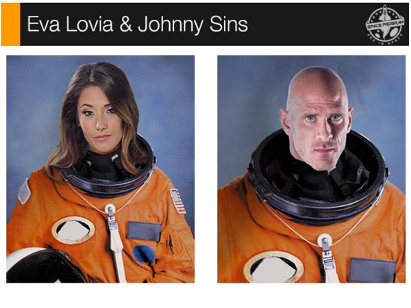 大家來集資拍A片,送這兩位AV男、女優上太空!