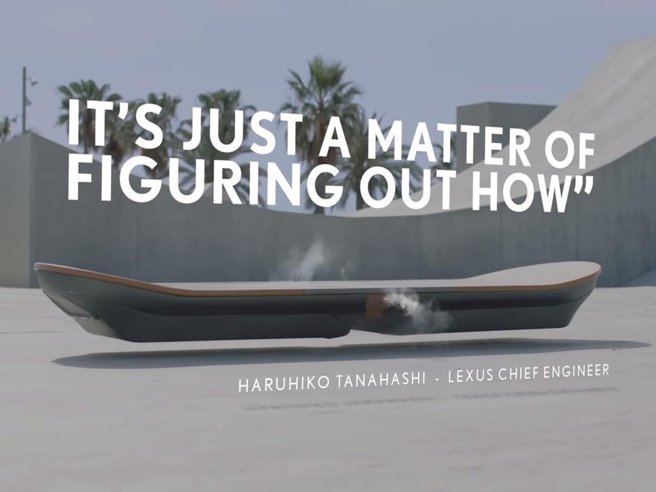 《回到未來 》不是夢!LEXUS 推懸浮滑板,今夏開始在西班牙試飛