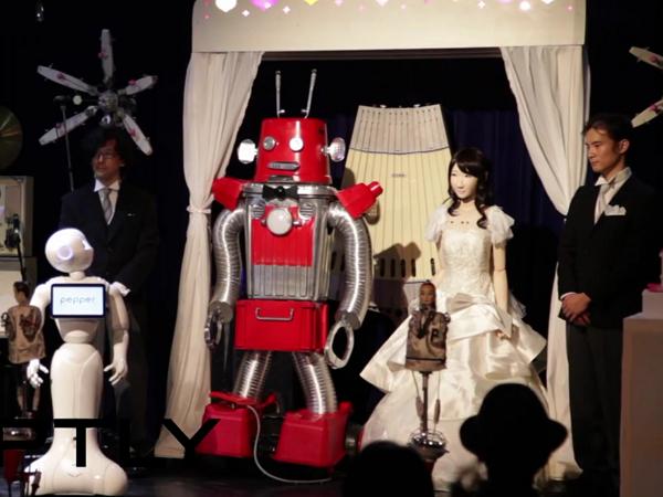 在日本東京,他們悄悄舉辦了第一場機器人婚禮