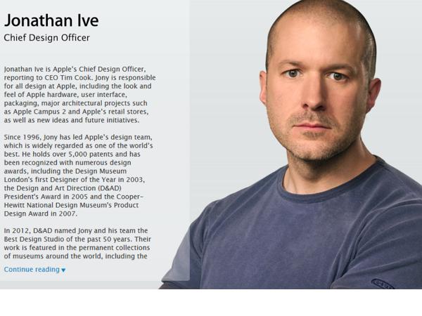Jony Ive正式成了蘋果首席設計長,但旗下設計主管卻跳過他向Tim Cook報告