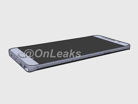 三星 Galaxy Note 5 模擬圖流出,疑無法換電池也無法擴充儲存空間