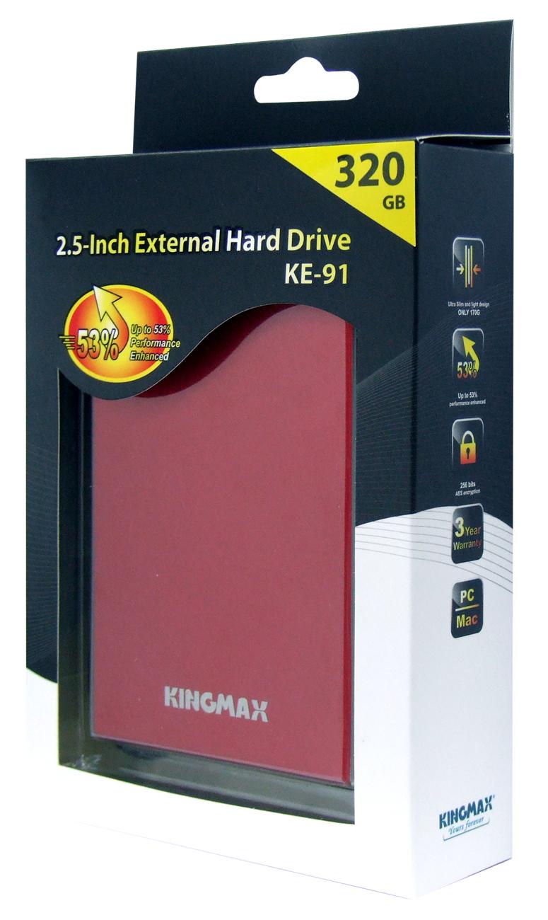 KINGMAX KE-91行動硬碟 極致工藝首度上市
