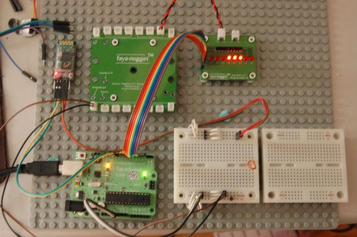 fayaduino Uno開發板實作:如何使用語音聲控控制燈號程式
