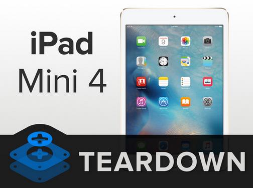 iPad mini 4 拆解,電池變小、記憶體升級 2GB RAM