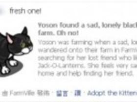 【FarmVille】【FarmVille】新動物出場~小黑喵來啦!