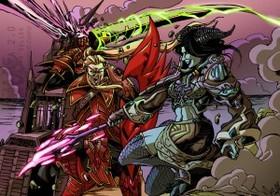 【魔獸世界】Fan Art:血精與德萊尼的決戰