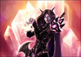 【魔獸世界】官網Fan Art:已經領便當的伊利丹