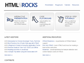 不只玩小遊戲,HTML5 Rocks教你寫程式