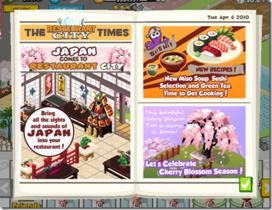 【Restaurant City】【餐城】4/8 日本櫻花盛開了!