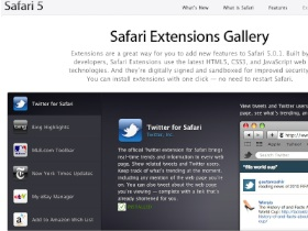 Safari 5.0.1外掛大軍報到,Extensions Gallery開張