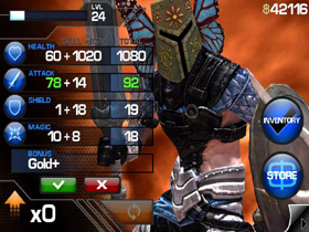 【Infinity Blade】《Infinity Blade》遊戲介面與屬性分配