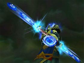 【魔獸世界】【經典武器塑形】雙手法杖