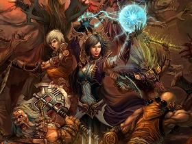 【暗黑破壞神III】【暴雪美術館】桌布下載:Diablo3 最新桌布-血戰