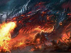【魔獸世界】【暴雪美術館】Fan Art:黑龍王,死亡之翼