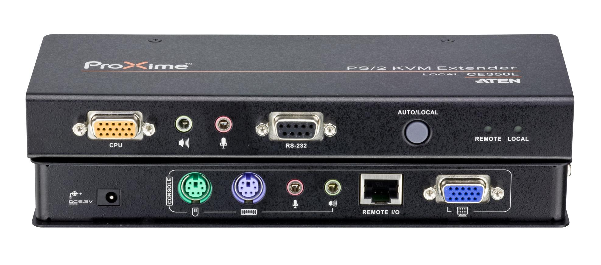 全新支援Deskew抗色偏與RS-232功能的PS/2 KVM訊號延長器