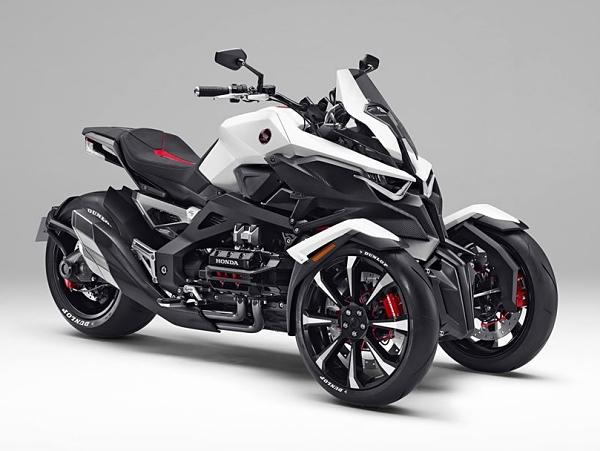 Honda 超前衛三輪重機 Neowing 現身,搭載水平對臥引擎與油電混合動力
