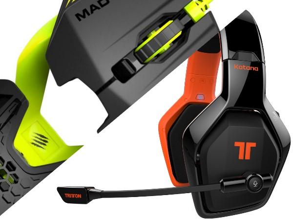 Mad Catz 推出可自行設計外型的 R.A.T.1 滑鼠與Tritton Katana HD HDMI 介面耳機
