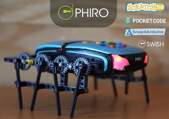 相容樂高、支援多種程式的Phiro智慧型教學機器人