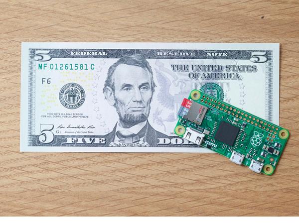 樹莓派宣佈最新版本Raspberry Pi Zero,售價只要5美元!