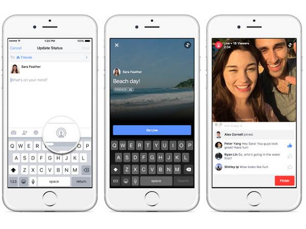 不用羨慕名人FB的直播藍勾勾了!FB開放所有用戶影像直播