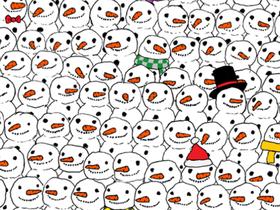 在臉書上玩這個雪人中找熊貓的圖片遊戲,已經讓超過十萬人眼睛看到發痠