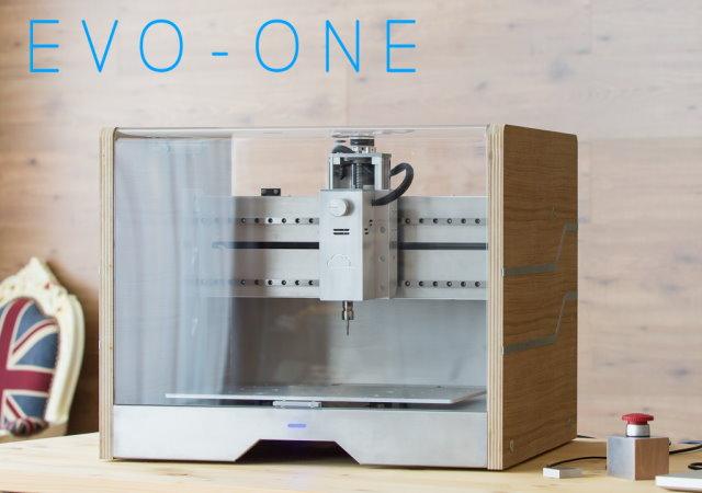 家庭用CNC銑床Evo-One,木頭、塑料、金屬通通能加工