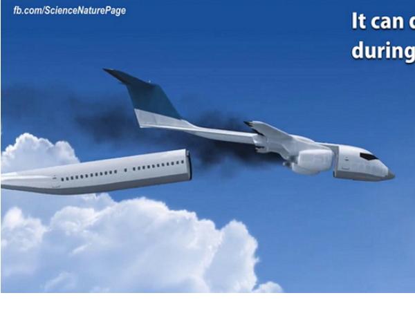 大難來時各自「飛」!飛機「逃生艙」新概念
