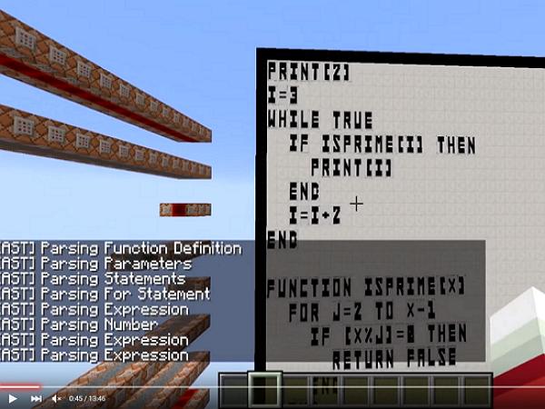 現在,你也可以在Minecraft裡頭這樣編譯Basic程式
