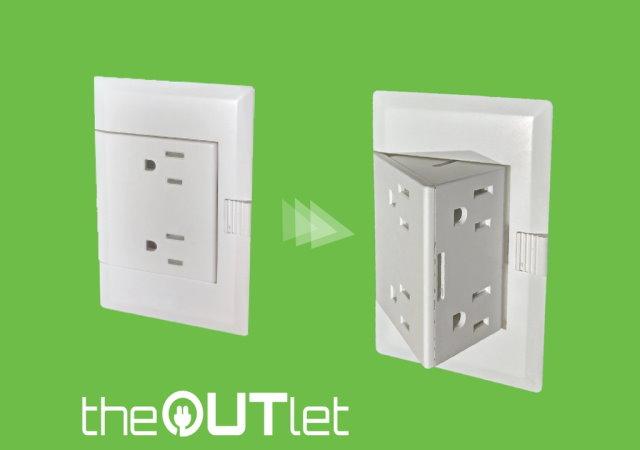 電器太多也不需延長線,theOUTlet憑空變出更多插座給你用