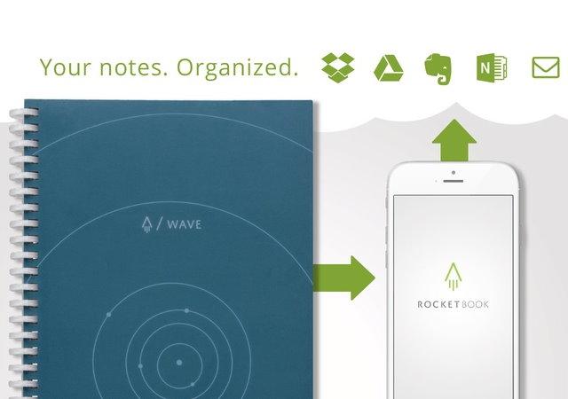 免插電,可上傳雲端還能重覆書寫的Rocketbook Wave筆記本