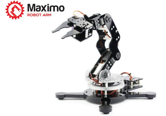5軸Arduino機械手臂Maximo,自己在家動手做