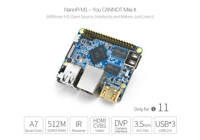只要350元,具HDMI的開源迷你電腦NanoPi M1