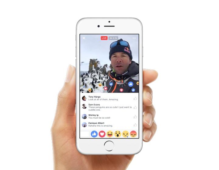 Facebook 直播新功能:社團 & 活動頁面直播、濾鏡、互動表情符號、直播專區