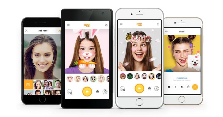 一秒變身蝙蝠俠、大猩猩!LINE推出3D面具搞笑自拍app「egg 艾格」