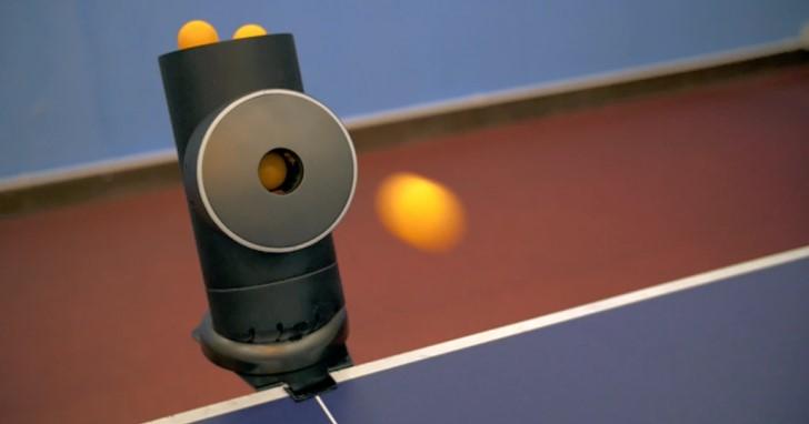 一個人的桌球:智慧型桌球發球機Trainerbot,上旋、下旋、側旋都能發