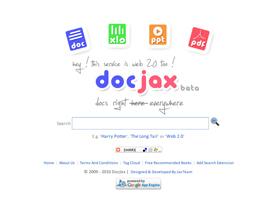 專找文件檔的搜尋引擎:docjax