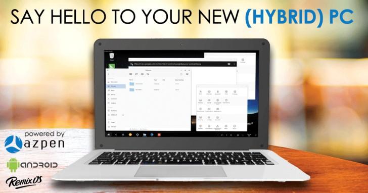 搭載Android、Remix OS雙系統,輕薄筆電Azpen HYBRX只要2,250元