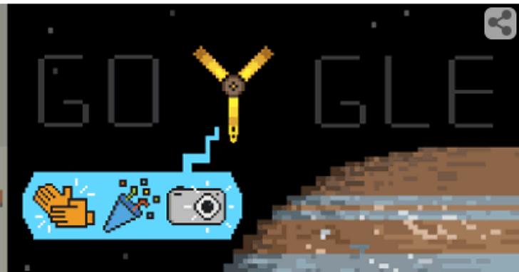 NASA探測太空船朱諾號進入木星軌道,Google和蘋果都來湊熱鬧了