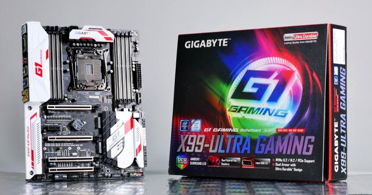 GIGABYTE GA-X99-Ultra Gaming超炫砲彩光主機板,支援22核心帶來至強效能