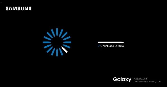 三星發出 Galaxy Note 7 發表會邀請函,8/2 即將揭曉