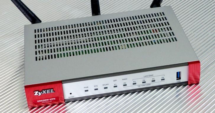 入門款商用防火牆 ZyXEL USG20W-VPN,加入無線網路更活用