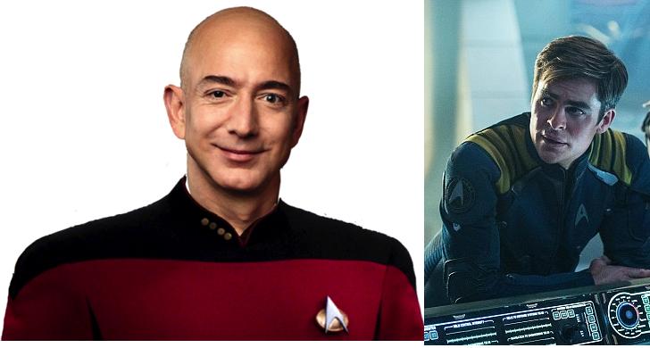 亞馬遜 CEO 傑佛瑞·貝佐斯在《星際爭霸戰:浩瀚無垠》裡扮外星人,只為滿足兒時夢想